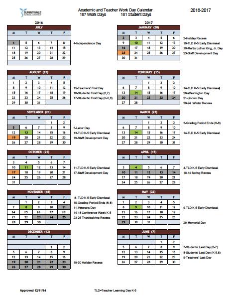 Cusd Calendar 2017 Cupertino   kalentri 2018
