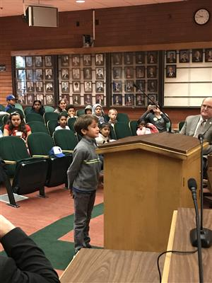 Students speak in council chambers