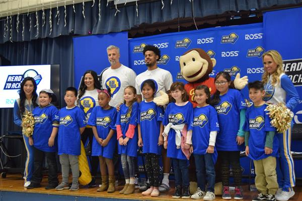 Golden State Warriors & Reading Partners held a rally around their literacy program, Read to Achieve