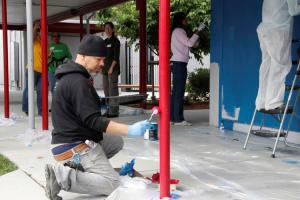 Two schools receive 'beautiful' upgrades from 600 volunteers