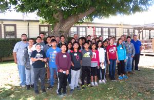Columbia Middle seventh and eighth grade students connect with Northrop Grumman engineers