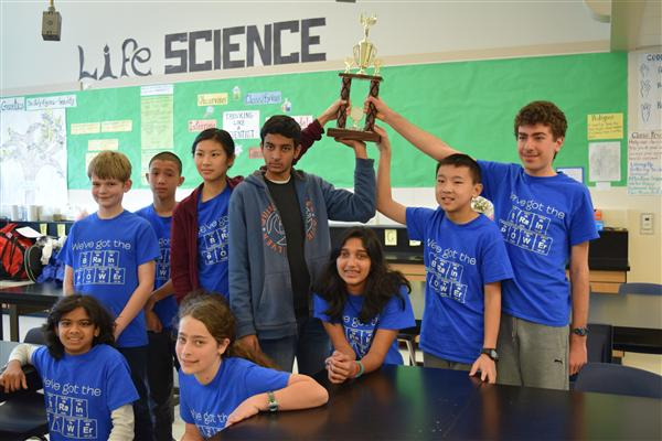 Science Bowl Club holds trophy victoriously
