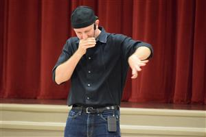 Blake Brandes teaches students about the growth mindset through hip hop and beat boxing