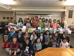 Ellis students collect needed items for Homeless Winter Shelter